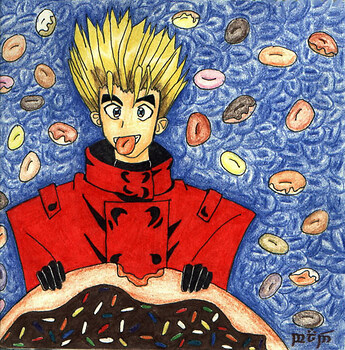 Vash eating a doughnut for EddyBones