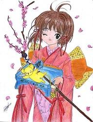 card captor sakura-pink kimono
