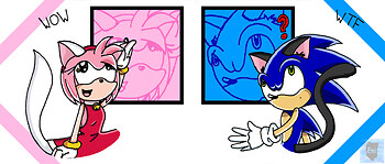 Sonic and Amy Cats