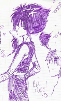 Hiei: Version purple(sketch)