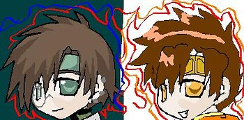 Goku and hakki (ms paint )