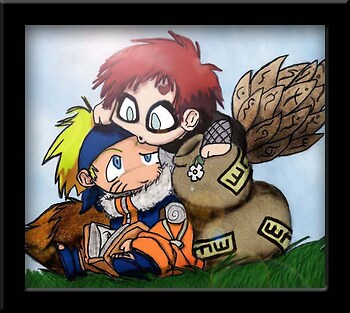 Gaara and Naruto: Nosy Chibis