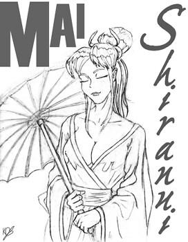 Mai in kimono.