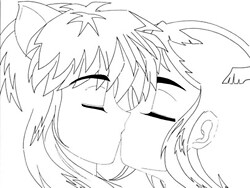 Inuyasha & Starry (Innocent Wittle Kiss)