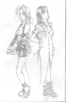Aeris and Tifa trade outfits!
