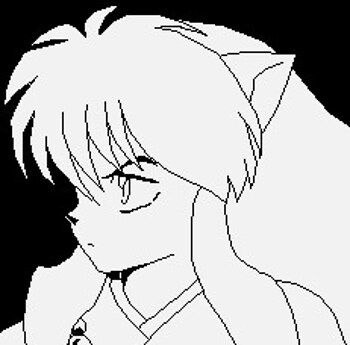 Black n white InuYasha