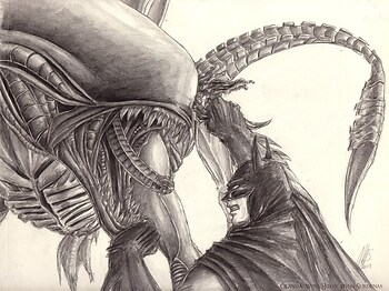 Aliens Batman crossover - Stroke of Luck