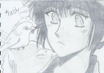 Subaru-kun and a Bird