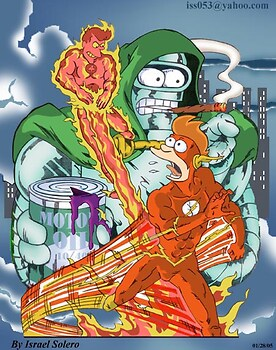 alpha: Futurama's FRY as Flash/Human Torch