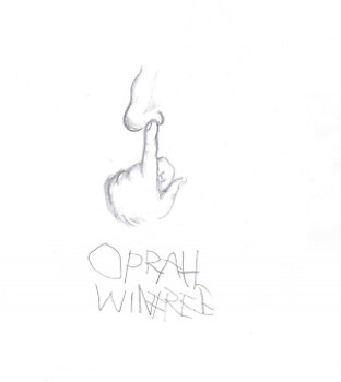 realistic portrait of OPRAH!