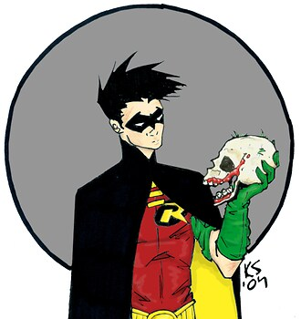 Robin and Joker Skull