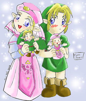 !!!Chibi Link & Zelda with Dolls!!!