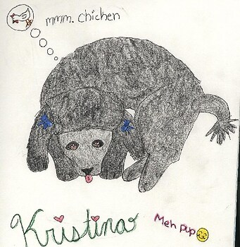kristina!!!!!!(our poodle!!)for the cute contest