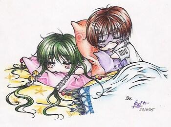 Chibi Kazuki and Juubei