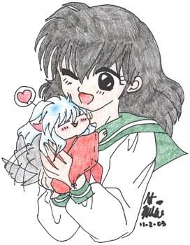 Kagome and Chibi Inuyasha!