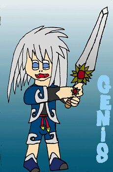 genis with sword. (request from genissage13)