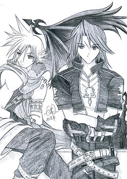 Kingdom Hearts - Leonhart and Cloudy Wolf