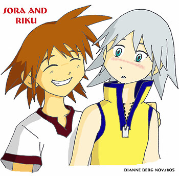 Sora/Riku as kids
