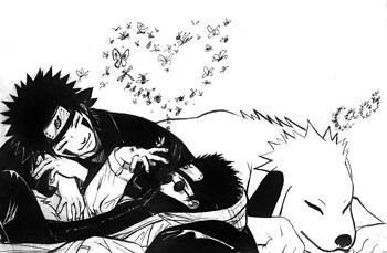 Kiba & Shino (and Akamaru)