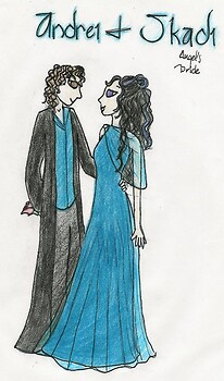Andrei and Skadi at the Hogwarts Ball