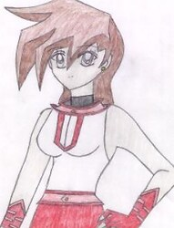 Chazz wearing  the Slifer girls uniform (in a diff