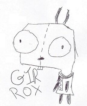 I drew Gir because...