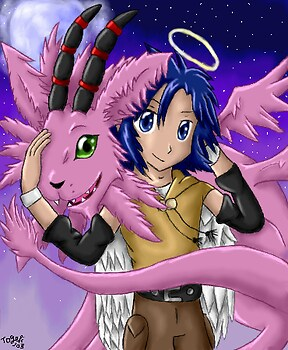 Kouichi and Magnadramon