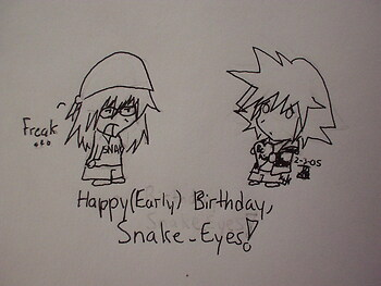 Happy Birthday, Snake Eyes!