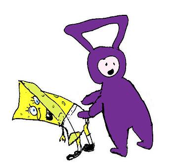 Spongebob & Tinky Winky
