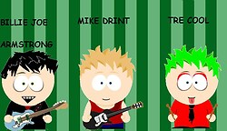 Green Day as South park guys 3