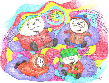 Stan/Kyle/Kenny/Cartman STONED