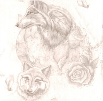 Wolves and a rose