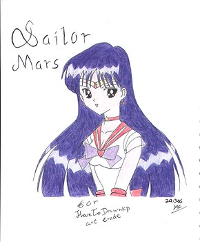 Sailor Mars *ILoveToDrawnkp Art Trade*