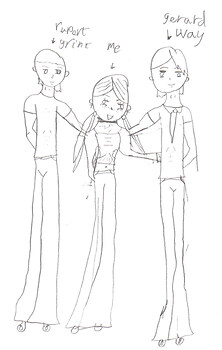 rupert grint, me and gerard way