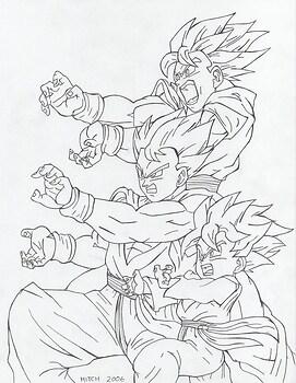 Goku,Gohan and Goten