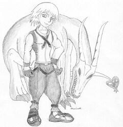 Riku and the dragon, (my shadow?)