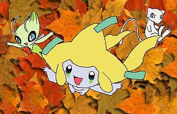 Celebi, Jirachi and Mew