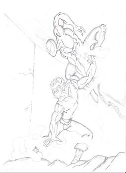 Spidy v/s Goku