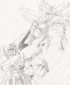 Wing Zero and Deathscythe