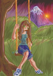 sunset swings for whatawhatatomgirl