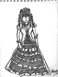 Adorable Saloon Girl
