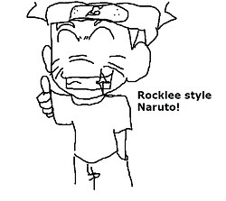 Naruto Rocklee style