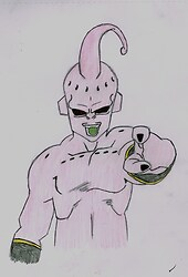 Kid buu coloured