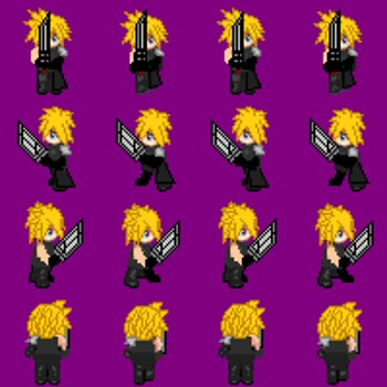 Cloud of thy game sprite, with sword
