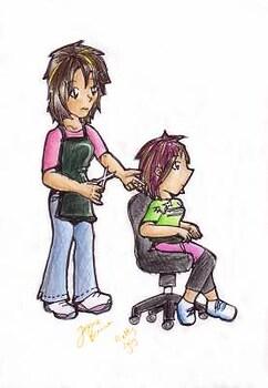 Hair cut, coloured!!