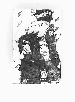 Back-to-Back in a Flurry of Leaves: Sasuke and Kakashi
