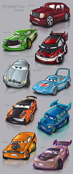 GI Styled Cars set