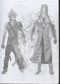 Cloud and Sephiroth - Advent Children