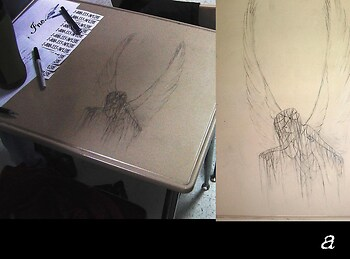 "Desk Graffiti: ""Emo Angel"""