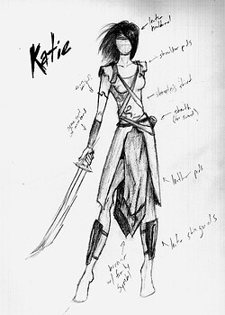 Costume Sketch: Katie Findlay, I